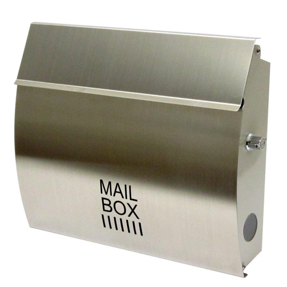 EUROデザイナーズポスト ユーロデザイナーズポスト MB4801 ステンレス 郵便受け MB4801-KL-STAINLESS 009 奥行35×高さ29×幅8.5cm B00BIAST3Q 18799 ステンレス ステンレス