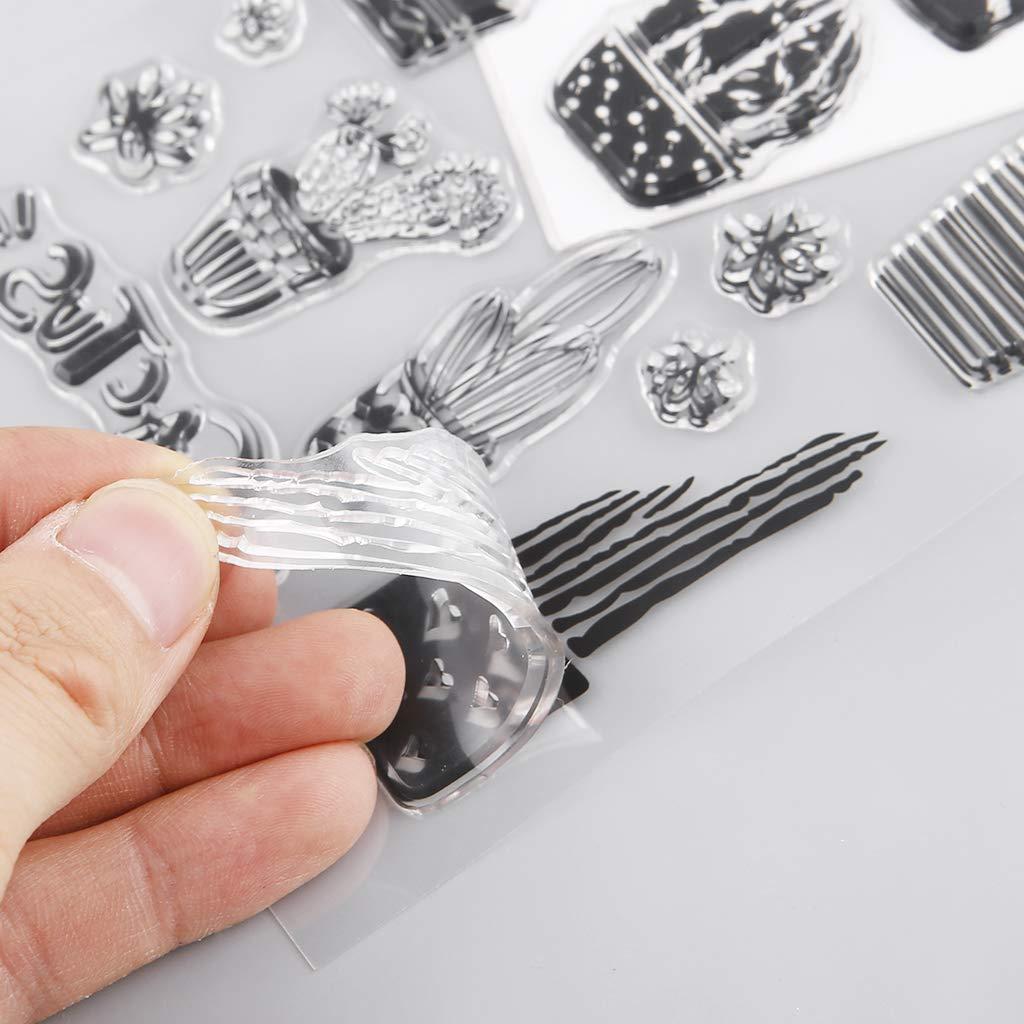 Kartenherstellung Planer Journaling DIY Scrapbooking Baiyao Kaktus klaren Stempel
