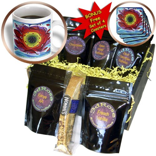 cgb_54901_1 Yelena Rubin Painting Color Abstract - Circle of tunnel, symbolism of life we all have an endless tunnel of love experiences happy or sad - Coffee Gift Baskets - Coffee Gift Basket