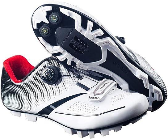 GUARDUU Zapatillas De Ciclismo Carretera Zapatillas De Bicicleta MBT Transpirables, Ligeras, Antideslizantes Y Resistentes Al Desgaste con Sistema De Bloqueo Rápido para Hombre,A,39(US:7): Amazon.es: Hogar