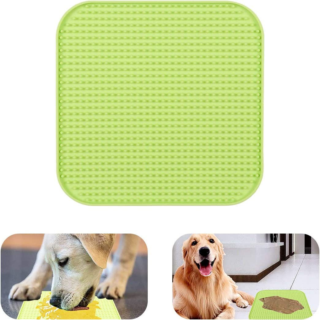 homxhandy Dog Lick Mat Slow Feeder for Dogs, Pet Calming Mat Boredom Anxiety Relief Dog Cat Training Licking Mat Perfect for Food, Treats, Yogurt, Peanut Butter
