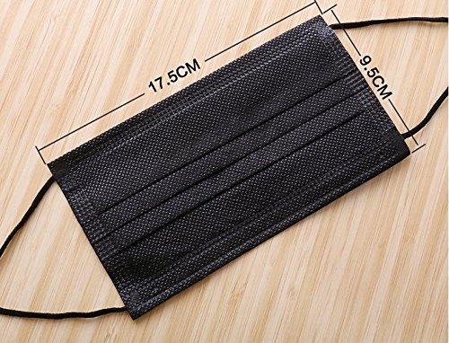 ファッションブラック使い捨てダストフェイスマスク4層厚み不織布Activated Carbon ear-loop面口マスク