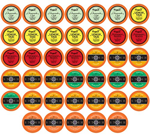 Herbal Fruit - Two Rivers Assorted Herbal Tea Sampler Pack for Keurig K-Cup Brewers, 40 Count