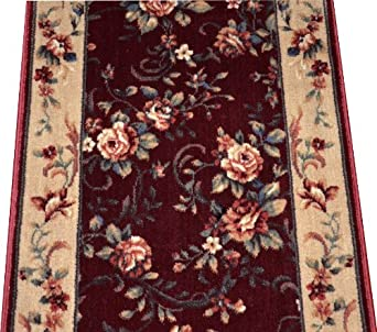 chelsea garden red carpet rug hallway stair runner purchase by the linear foot. Black Bedroom Furniture Sets. Home Design Ideas