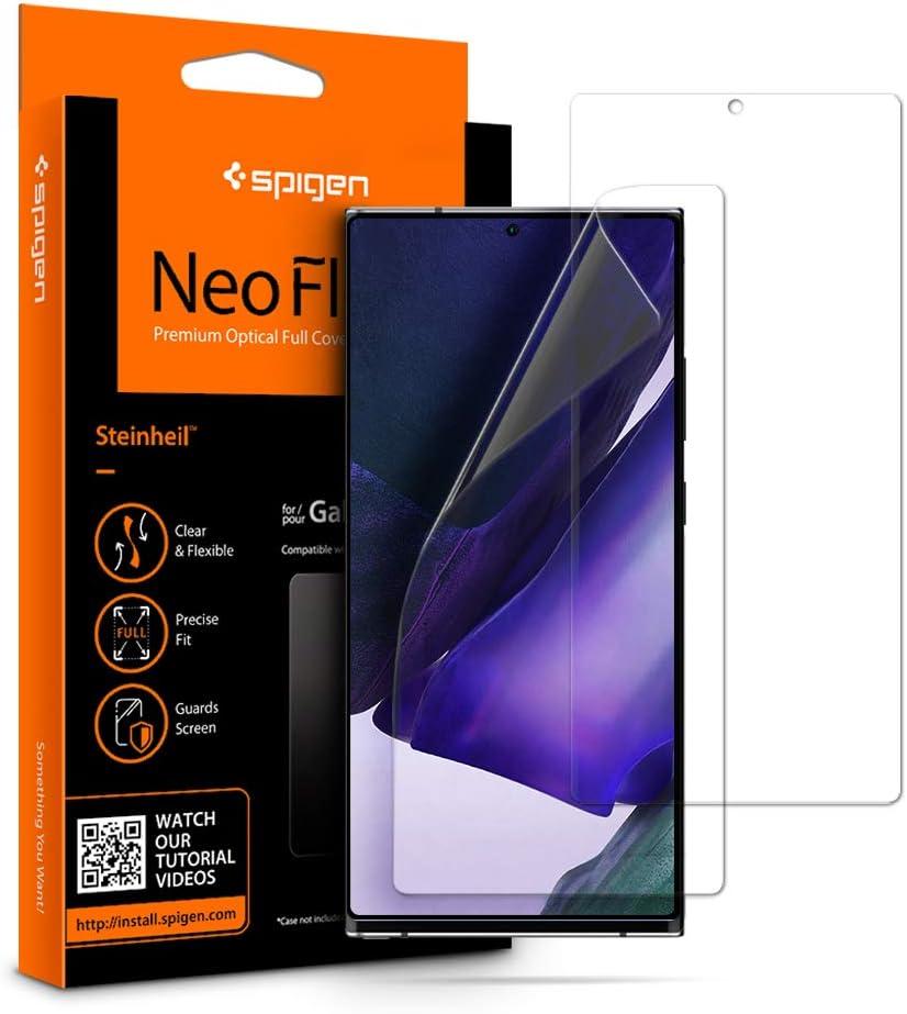 2 protectores pantalla samsung note 20 ultra Spigen NeoFlex