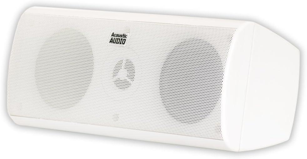 Acoustic Audio AA35CW Indoor Center 3 Way Speaker 400 Watts White Bookshelf