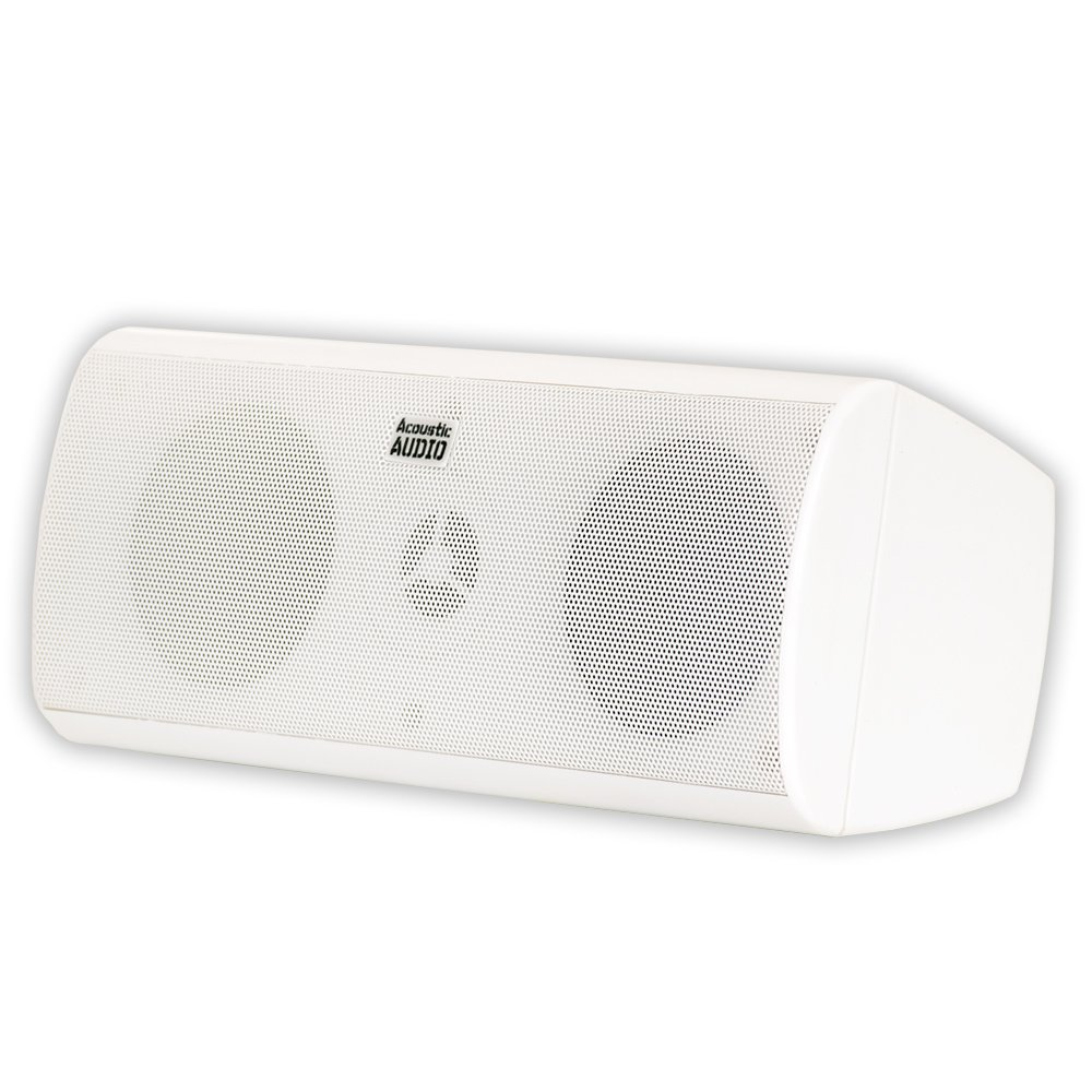 Acoustic Audio AA35CW Center Channel Speaker (White) by Acoustic Audio by Goldwood