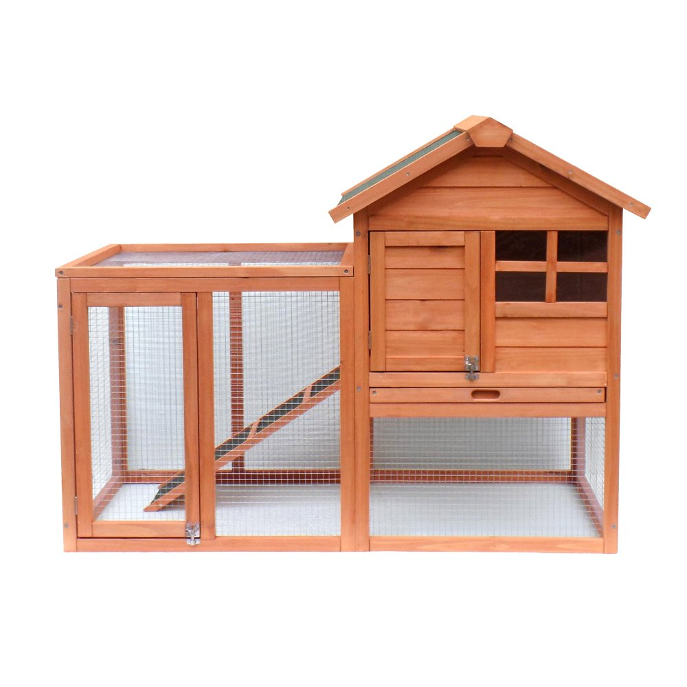 Conejera jaula conejos recinto descubierto zona descubierta corredor caseta corral madera abeto: Amazon.es: Productos para mascotas