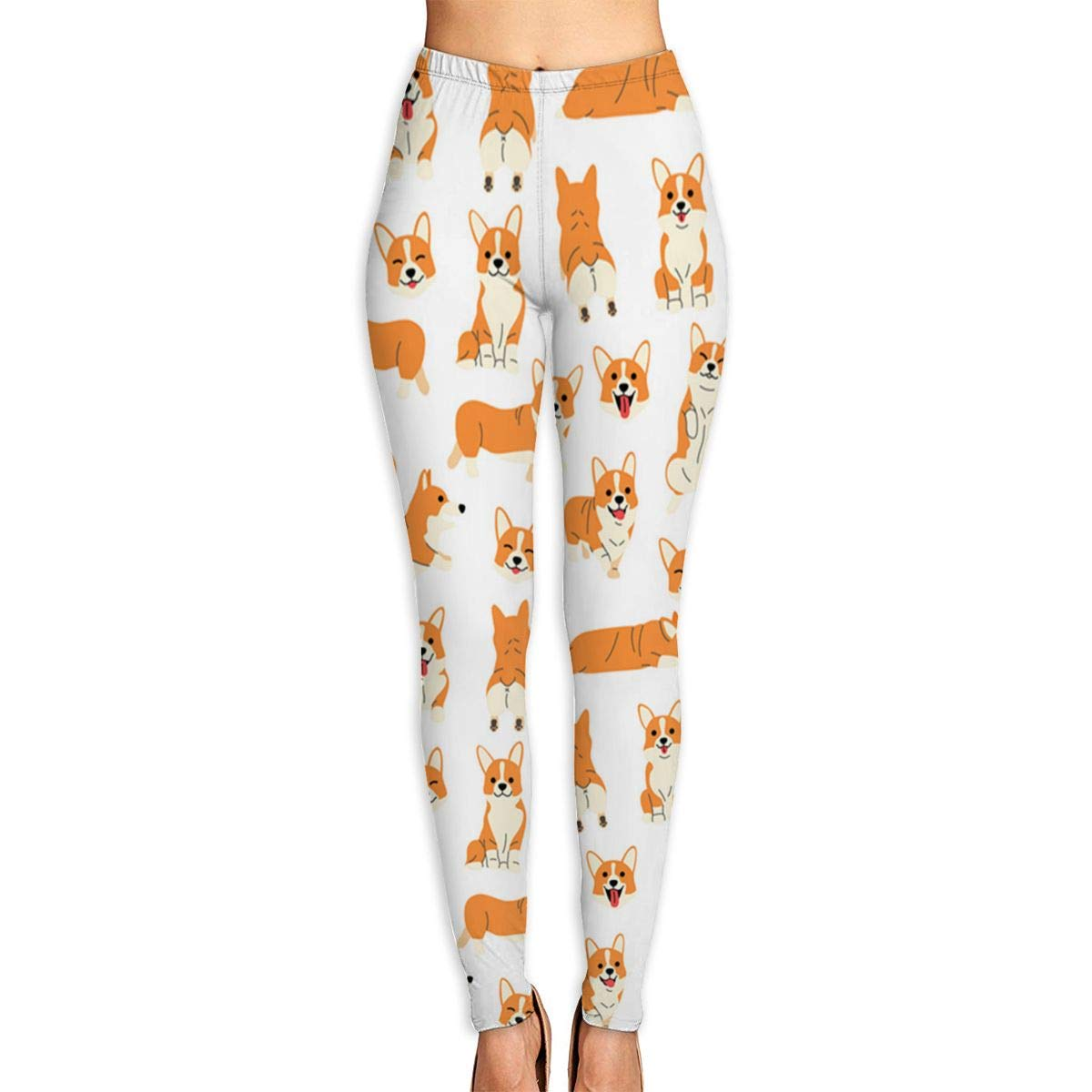 Amazon.com: Corgi-in-Action Compression Yoga Pants High ...
