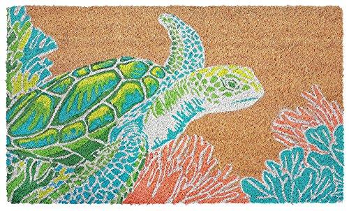 (Kensington Row Coastal Collection DOORMATS - Turtle Creek Vinyl Back Coir Welcome MAT - 18