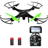 Drone with HD Camera, Potensic® U48W WIFI 720P HD Camera FPV 2.4Ghz RC Quadcopter Drone RTF Altitude Hold UFO with Newest Hover and 3D Flips Function- Green
