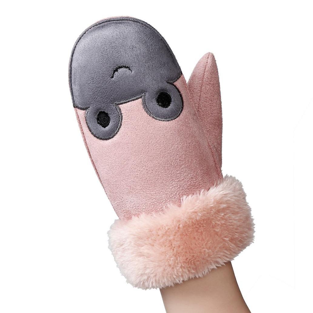 Lenfesh Baby Mädchen Jungen Winter Warme Niedlich Handschuhe Kinder Vollfinger Handschuhe Fäustlinge