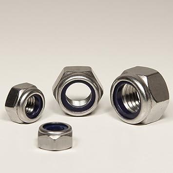 Form DIN 985 ISO 10511 M5 Sicherungsmuttern 30 St/ück Eisenwaren2000 rostfrei Edelstahl A2 V2A - selbstsichernde Stoppmuttern niedr
