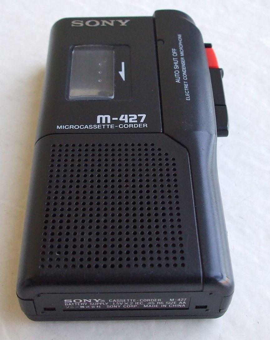 Sony M-427 Pressman Micro Cassette Recorder Voice Recorder by Sony