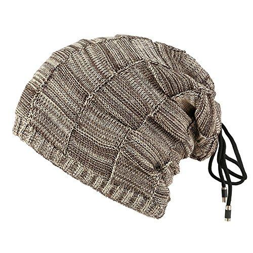 Doble de Cazadora Beige Sombrero cordón Punto e Otoño finalidad Sombreros de Terciopelo de Invierno de Unisex Dos Sombrero Patrón Cuadrado de Tonos TYx6Hx