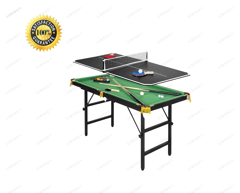 LIBYOU_テーブルテニス、卓球ゲームテーブル、ビリヤード、プールテーブル、ビリヤードゲームセット、プールテーブル、デスクトップミニチュアプールテーブルセット、卓上おもちゃゲーム、ミニテーブルテーブル、ボールビリヤード