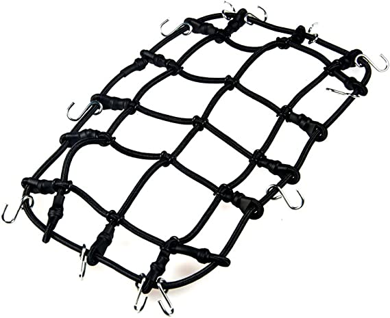 DragonPad Elastic Luggage Net 14x9cm with Hook for 1//10 RC for Rock Crawler D90 SCX10 90046 Traxxas TRX-4 RC Vehicles Car Truck Accessories Small Random Color