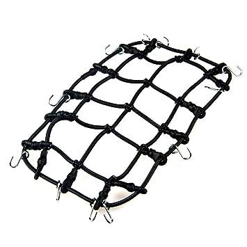 RC Car Roof Rack Cargo Elastic Luggage Net w// Hooks For 1//10 SCX10 D90 Crawler