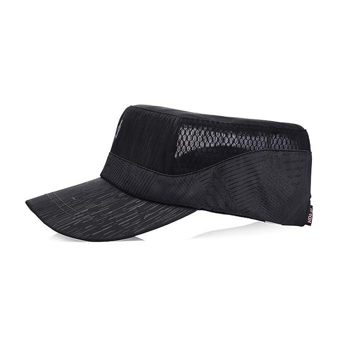 Mesh Cap Summer Mens Baseball Cap Man Flat Trucker Hat Gorras para Hombre De Marca Dad Hats Caps Men Army Green at Amazon Mens Clothing store: