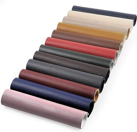 Caydo 12 piezas 12 colores accesorios color sólido piel sintética ...