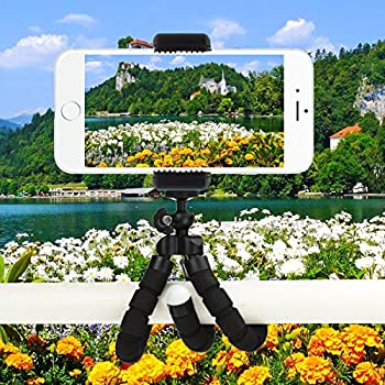 Tripsky Adjustable Mini Cell Phone Tripod,flexible Phone Tripod For Any Smartphone,iphone,with Universal Clip & Remote 5