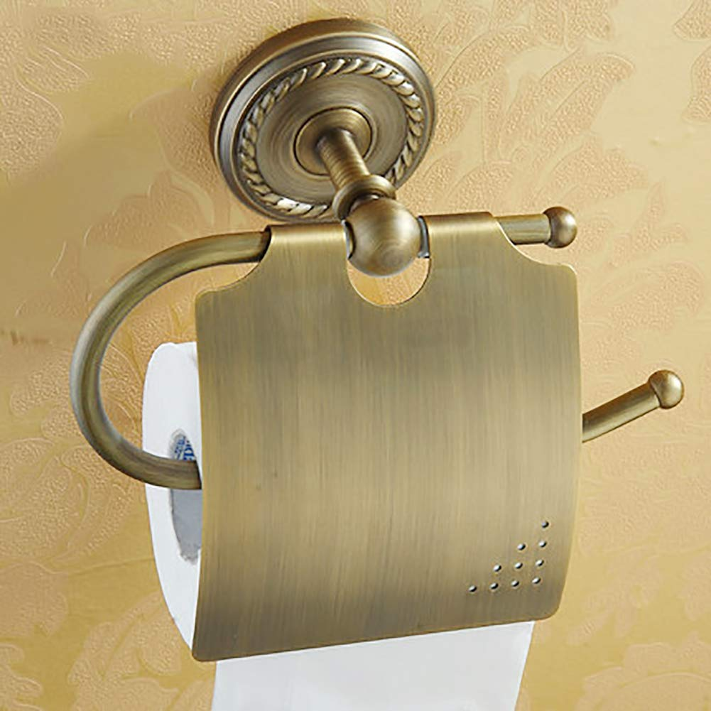 Q&F Wall Mount Toilet Paper Holder,Tissue Roll Hanger, Tissue Holder - Waterproof, Moisture Proof,Rust Protection,Brass
