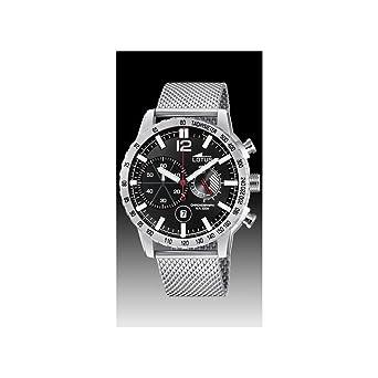 Lotus Reloj Cronógrafo para Hombre de Cuarzo con Correa en Acero Inoxidable 10137/4: Amazon.es: Relojes