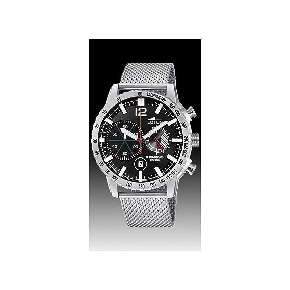 Lotus Reloj Cronógrafo para Hombre de Cuarzo con Correa en Acero Inoxidable 10137/4