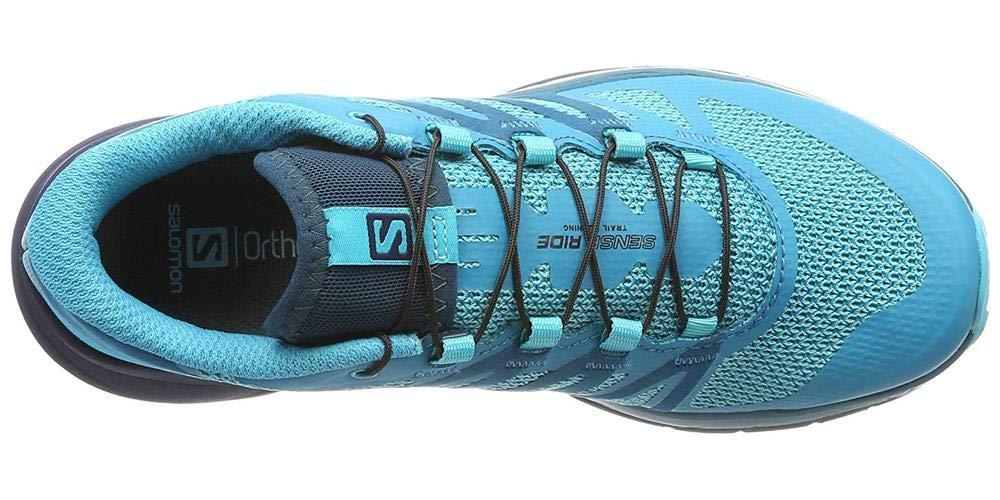 Salomon Sense Ride Running Shoe - Women's Blue Bird/Deep Lagoon/Navy Blazer 7 by Salomon (Image #7)