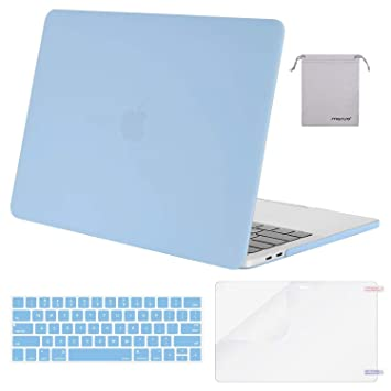MOSISO MacBook Pro 15 inch Case 2019 2018 2017 2016 Release A1990 A1707, Plastic Hard Shell &Keyboard Cover &Screen Protector &Storage Bag Compatible ...
