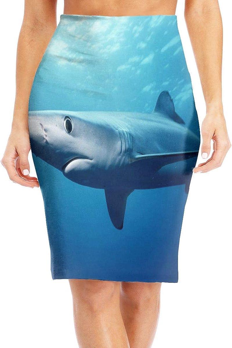 BEASDEN Womens High Waist Bodycon Skirt Camping Design Personalized Stretch Pencil Skirt