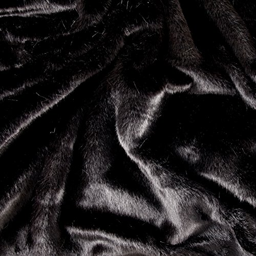 Shannon Fabrics Faux Fur Sable Fabric, Black