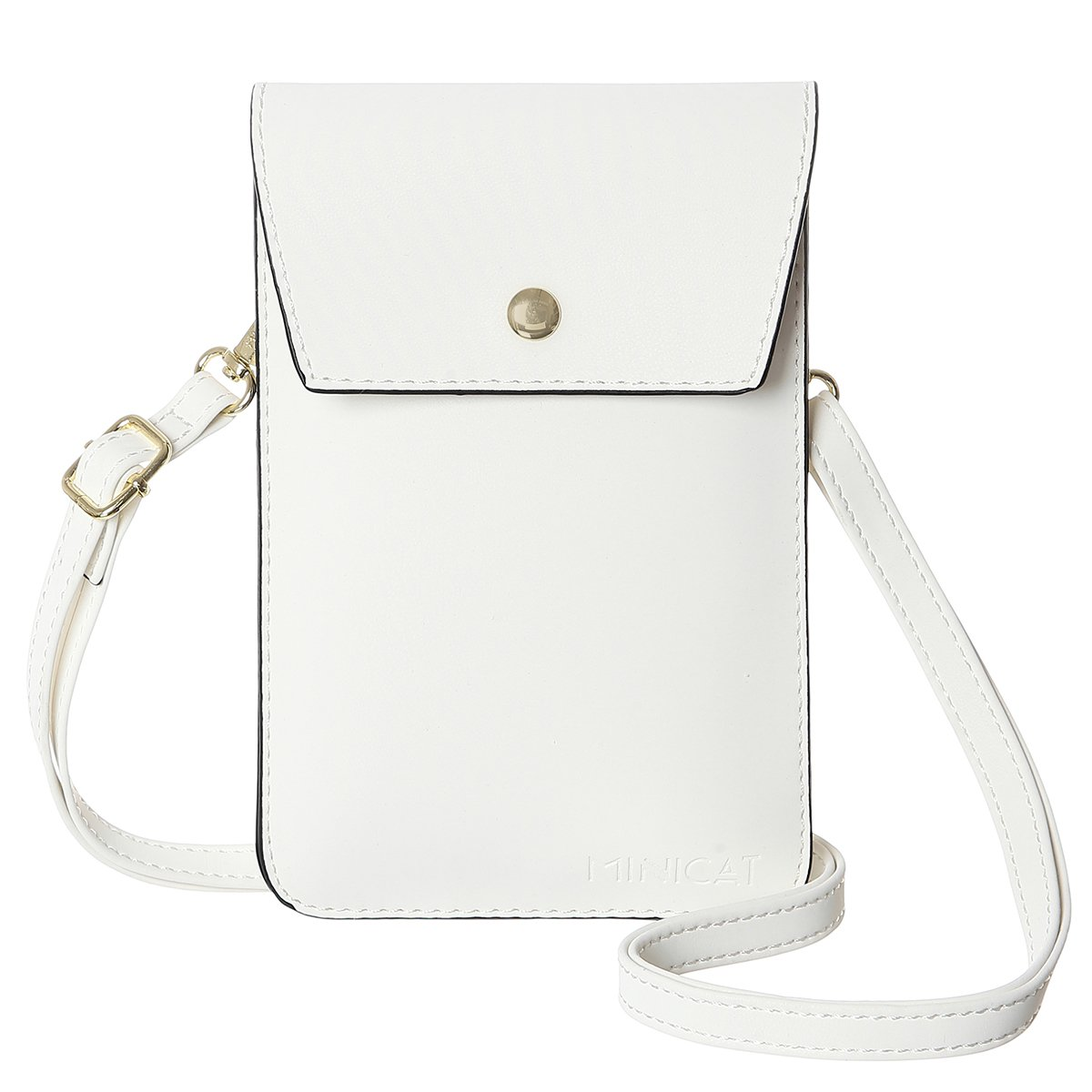 MINICAT Back Slot Series Small Crossbody Cell Phone Purse Wallet Smartphone Bags For Women (White)