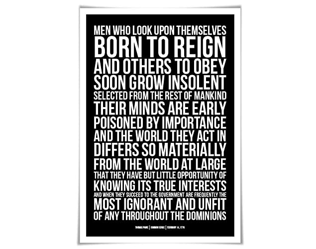 Amazon.com: Thomas Paine Common Sense Quote Art Print. 60 ...