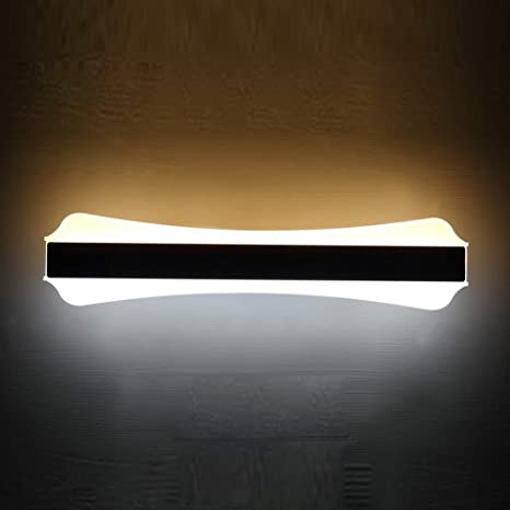 Modern Simple 20W LED Bathroom Wall Lamp 51cm Bone Acrylic Chrome ...