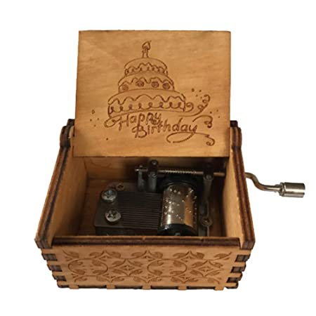czos88 Caja de música Mesa de Madera con manivela Regalos ...
