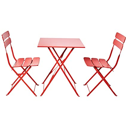 Outstanding Grand Patio Bistro Sets Folding Outdoor Furniture Set For Bistro Patio Backyard Red Gmtry Best Dining Table And Chair Ideas Images Gmtryco