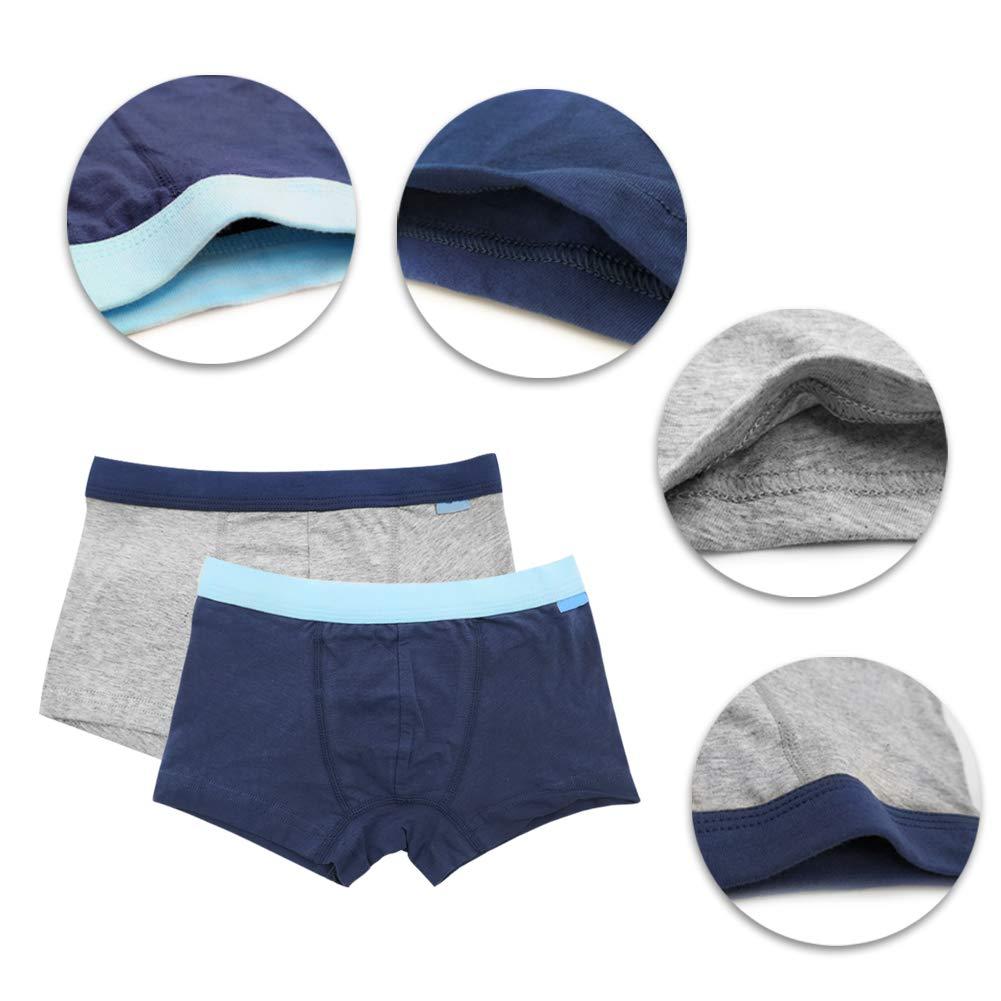Kids Boys Boxer Shorts Briefs Cotton Boyshorts Elasticated Underpants Children 3 Pack Yudesun Boys Underwear Briefs Boxer