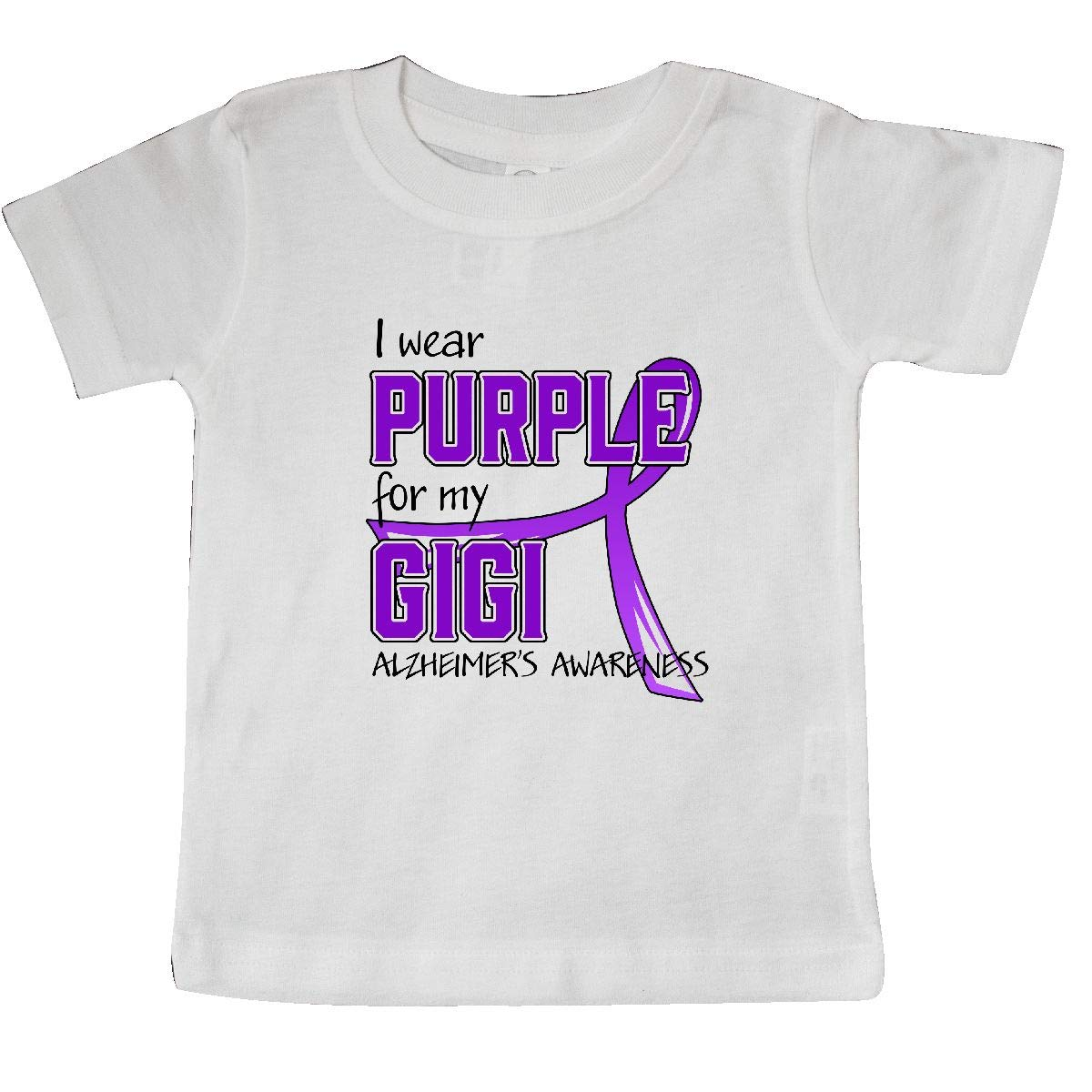 inktastic I Wear Purple for My Gigi Alzheimers Awareness Baby T-Shirt