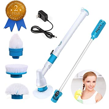Amazoncom Electric Spin ScrubberSIEGES Automatic Electric - Automatic bathroom scrubber