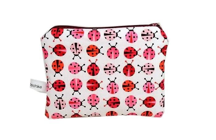 e78a50a05c0cc Geldbörse Täschchen Marienkäfer rosa weiß Punkte gepunktet handmade Kinder  Käfer