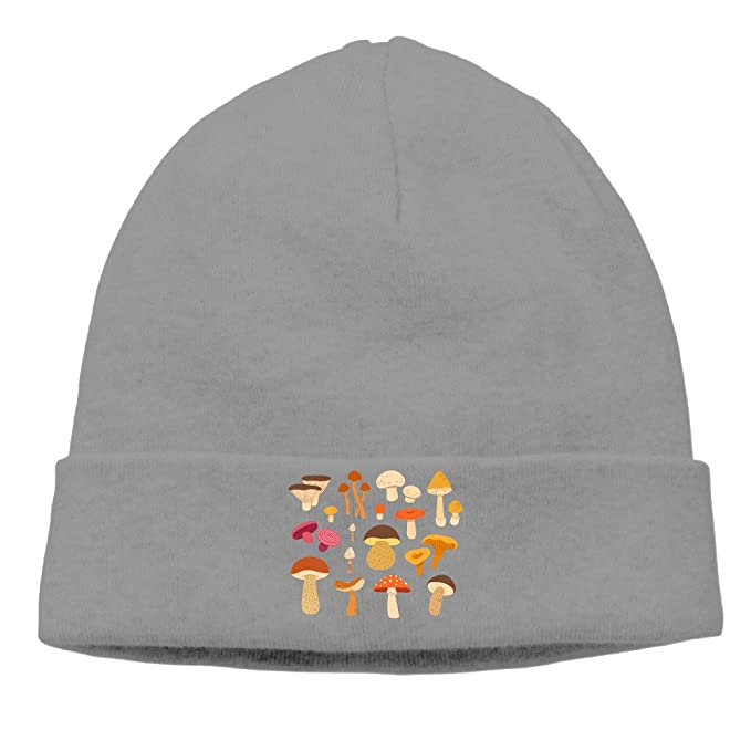 Different Types Of Mushrooms Unisex Oversized Baggy Caps Beanies Ski ... 381a3d09751