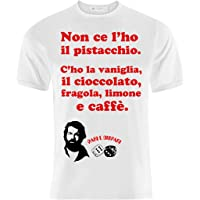 T-shirt Uomo Bud Spencer Pari e Dispari inspired Non ce l'ho il pistacchio!