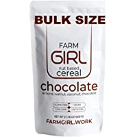 Farm Girl Breakfast Keto Granola - Delicious Taste - Low Carb Cereal, Gluten & Grain Free- Low Fat, High Protein Keto Cereals Snack- Great for Ketogenic & Diabetic Kitchen (Chocolate Bulk Size)