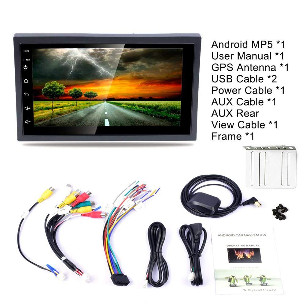Su-luoyu 7  2DIN Android 8.1 Coche Reproductor Multimedia GPS Navigator Volante Control FM//Am Radio WiFi Bluetooth Manos Libres Llamadas Dual USB Carga 1080P Vista Posterior C/ámara Espejo
