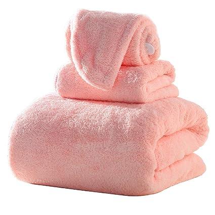 Toalla Rosada De Alto Absorbente Y Secado Rápido, 3 Juegos De Toallas para Baño (