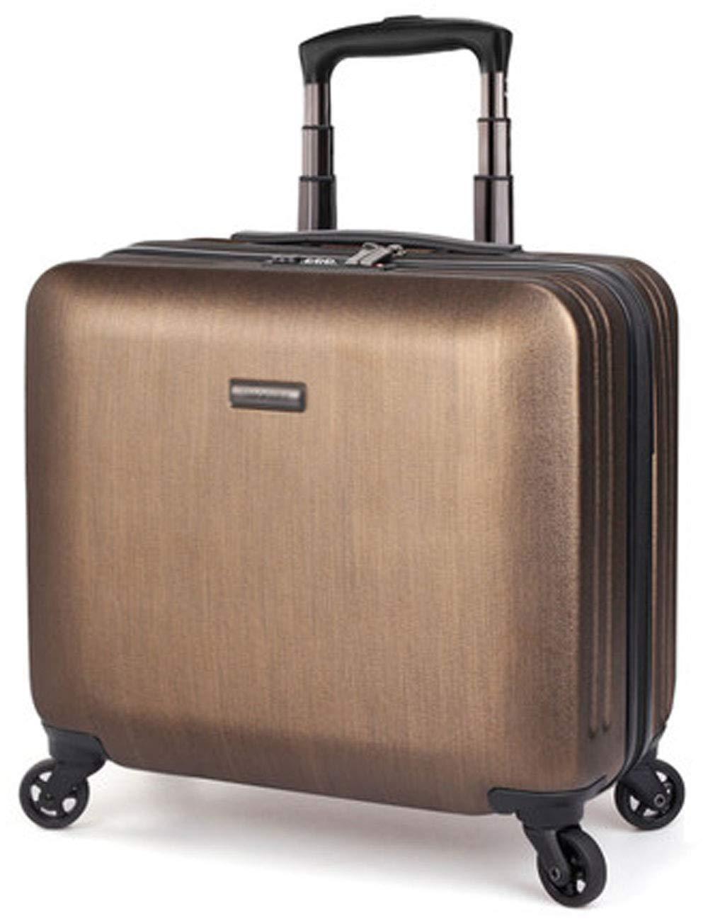 ビジネス超軽量PCハードケース、取り外し可能なコンピュータバッグ、サイレントローラー、搭乗フライトケース42.5cm * 22.5cm * 35.5cm (色 : ゴールド)   B07GSX7HX2