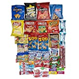 Cookies Chips and Candies Snacks Variety Pack Bulk Sampler Assortment (Care Package 46 Count)
