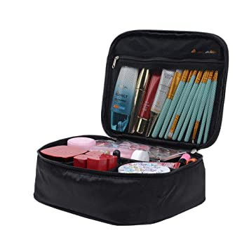 784e9a617234 Amazon.com   Wenosda Travel Cosmetic Bag Waterproof Make Up Case Pouch  Portable Toiletry Organizer Multifunctional Journey Storage Makeup Kit with  ...