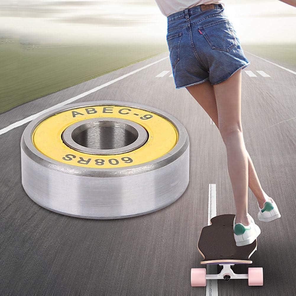 Alomejor Rodamientos de 8 rodamientos Rodamientos de Patines de Rodillos de Longboard para el reemplazo de Tablas de Skate
